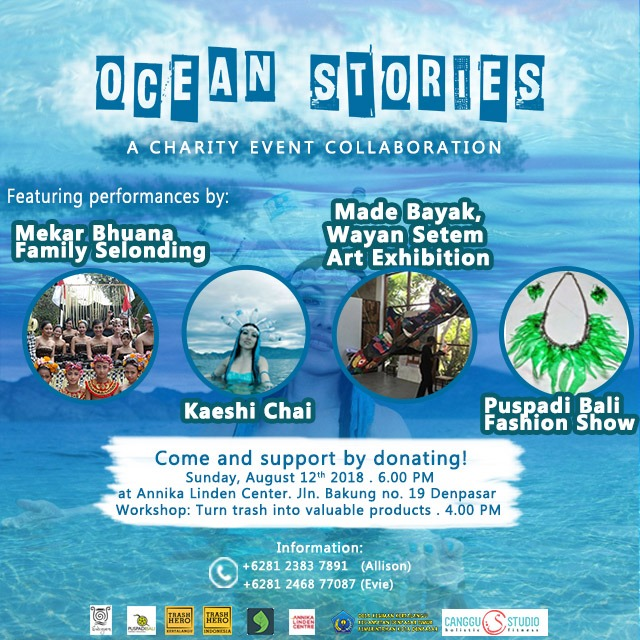 Ocean Stories Charity Event Flyer