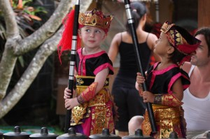 The two Wirayudha warrior boys practise together