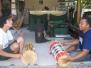 I Wayan Diana teaching kendang cedugan